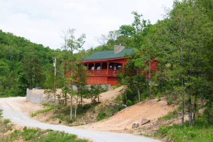 Joey burch cabin with a spectacular view arkansas cabins for Cabin builders in arkansas